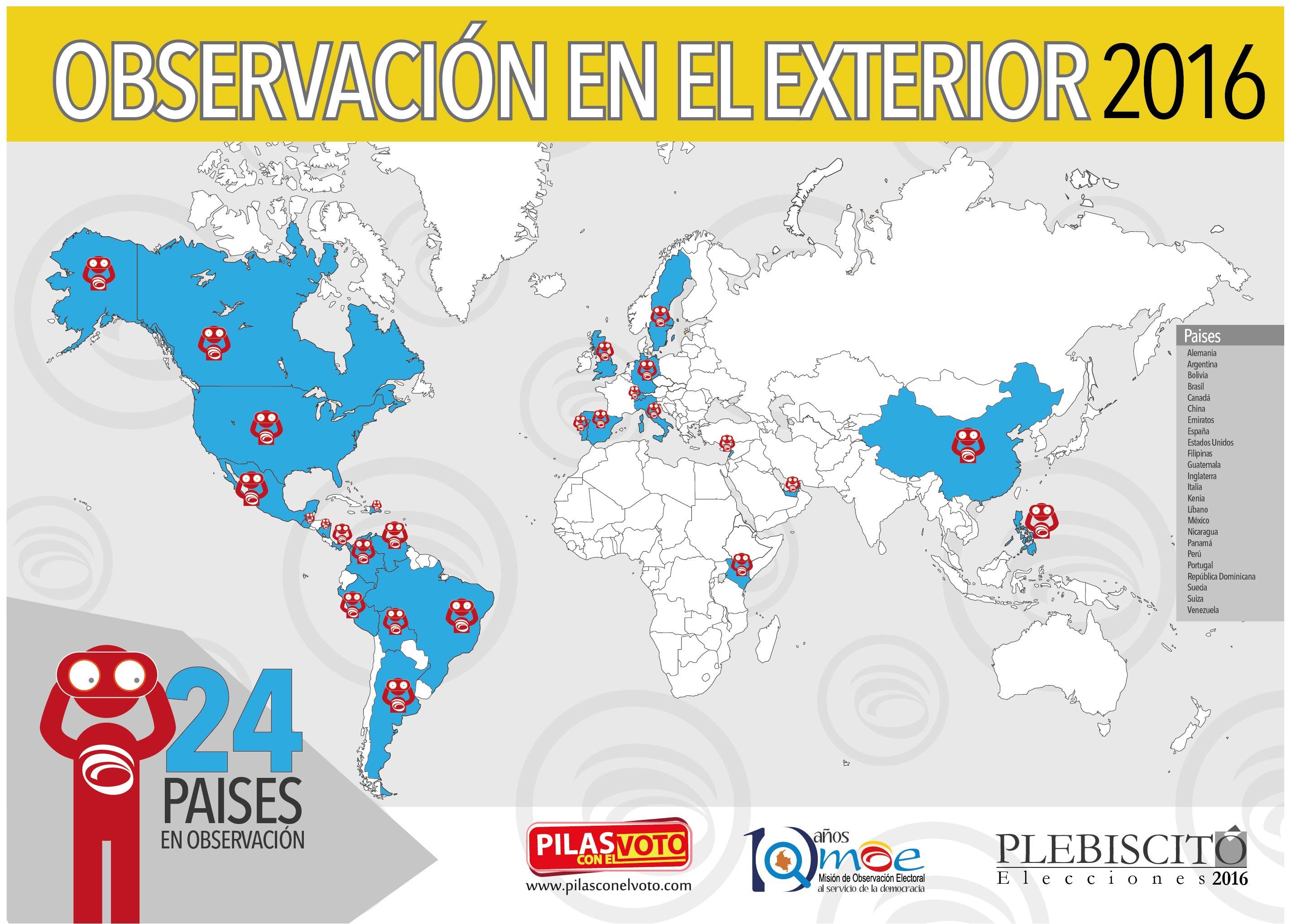 Mapas Cubrimiento MOE Embajadas y Consulados 2016