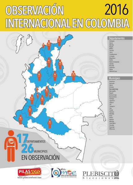 Mapa de Observación Internacional en Colombia 2016