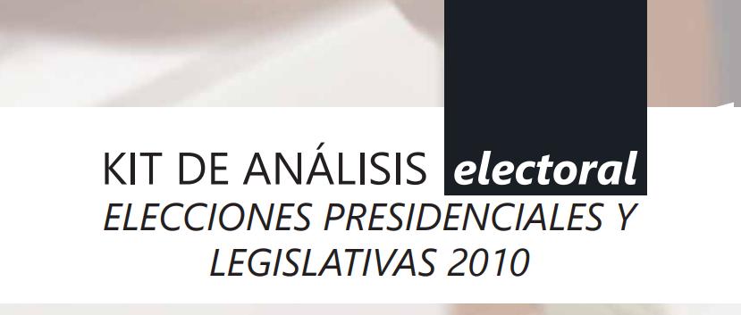 Kit MOE de análisis electoral 2010