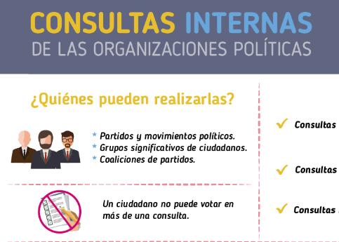 Consultas internas de organizaciones políticas