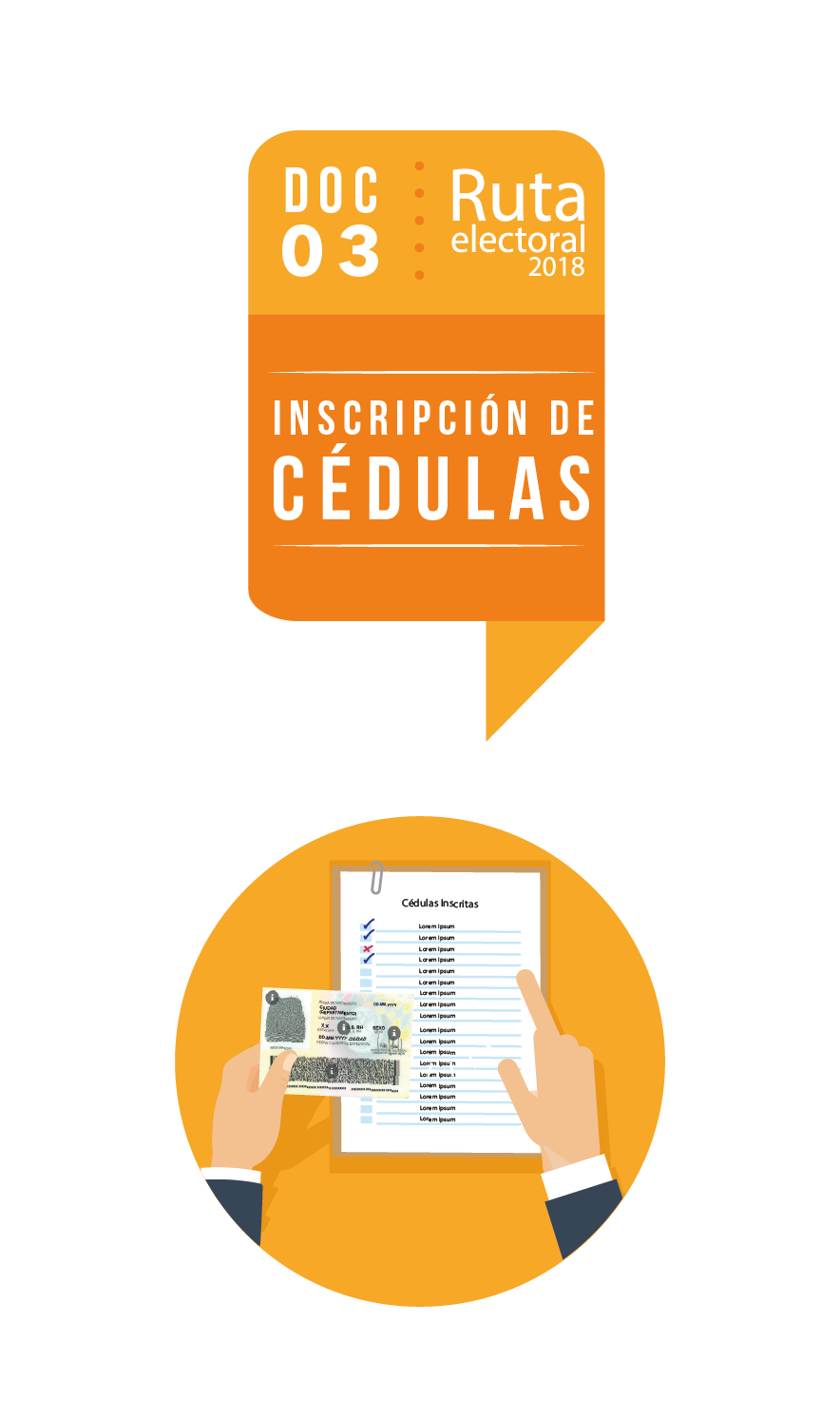 Ruta Electoral: inscripción de cédulas