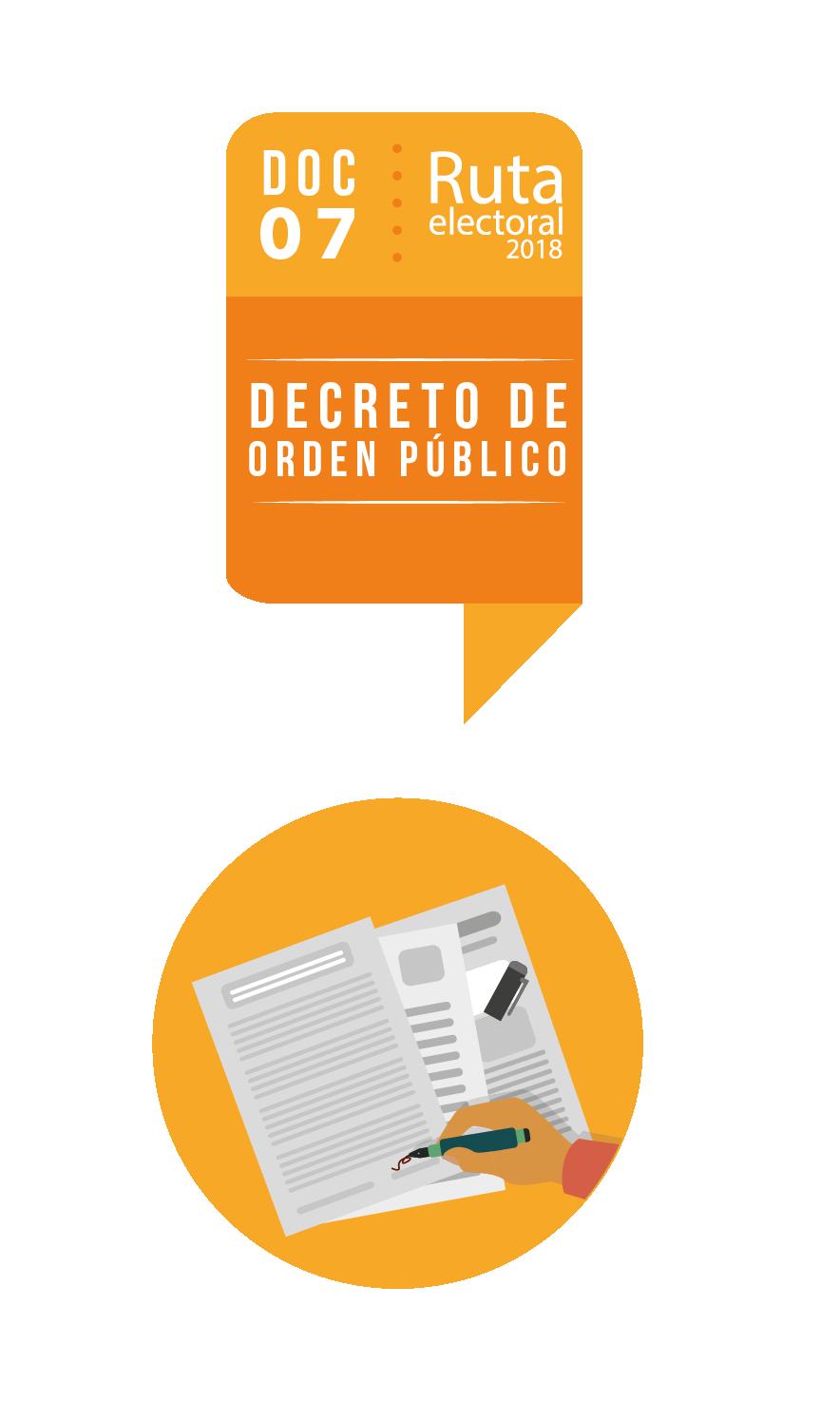 Ruta Electoral: decreto de orden público