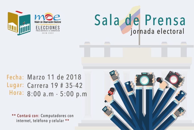 Sala de prensa MOE: elecciones Congreso