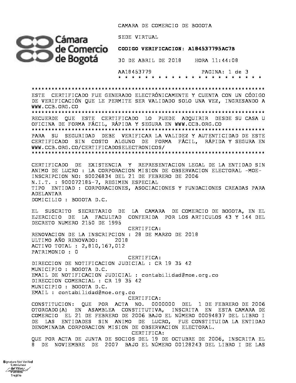 Fantástico Certificación Nacional Código De Promoción Corporación ...