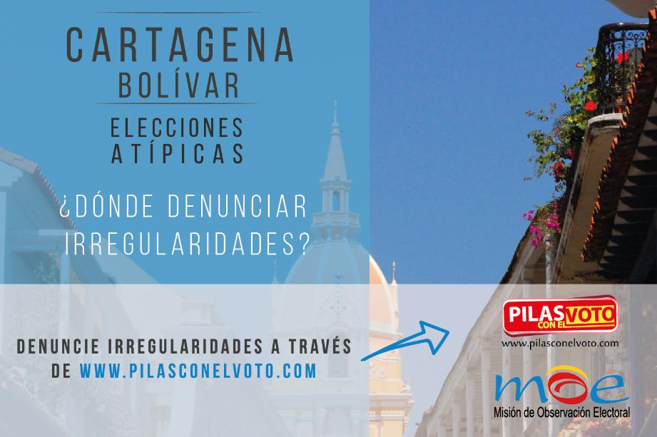 Sigue siendo incierto el futuro político de Cartagena: MOE
