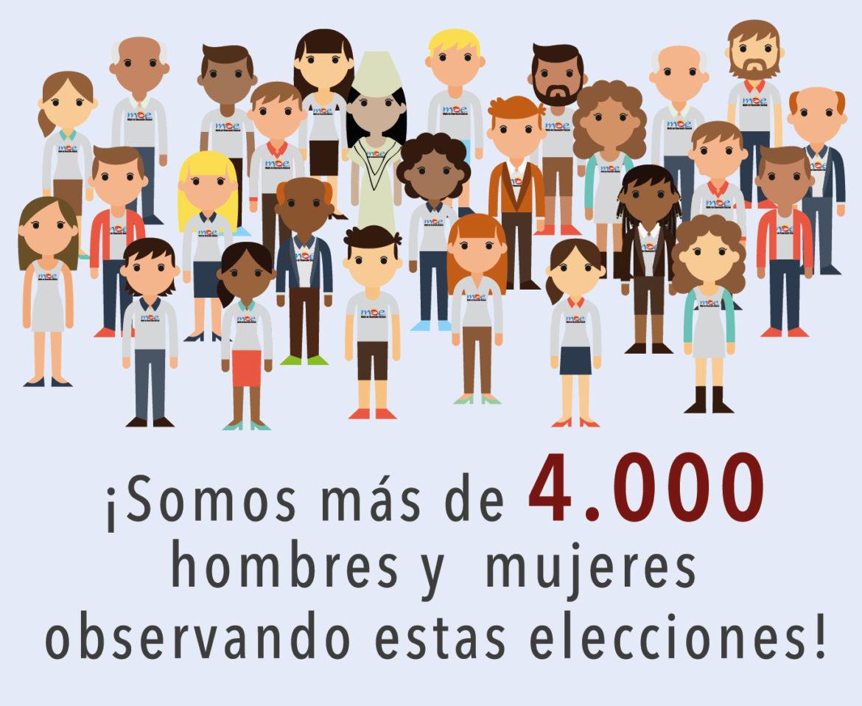 3.414 observadores tendrá MOE para la segunda vuelta a la Presidencia