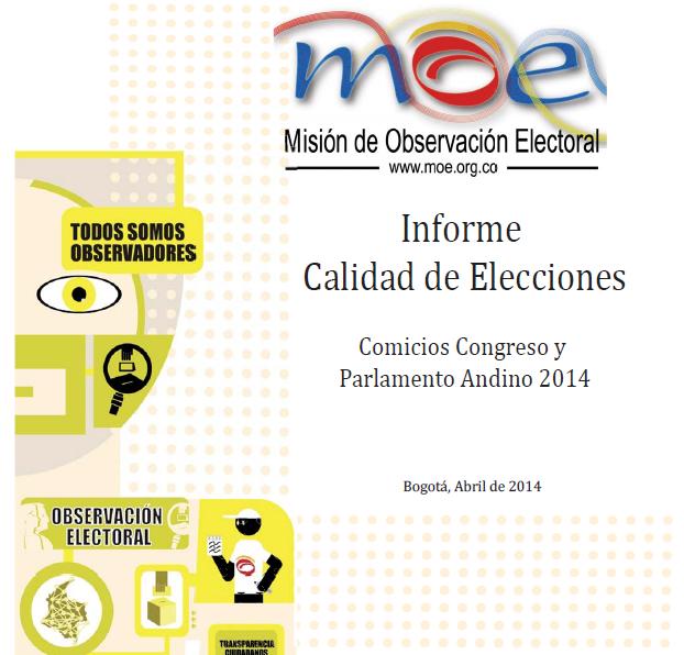 Informe Calidad Elecciones Congreso 2014