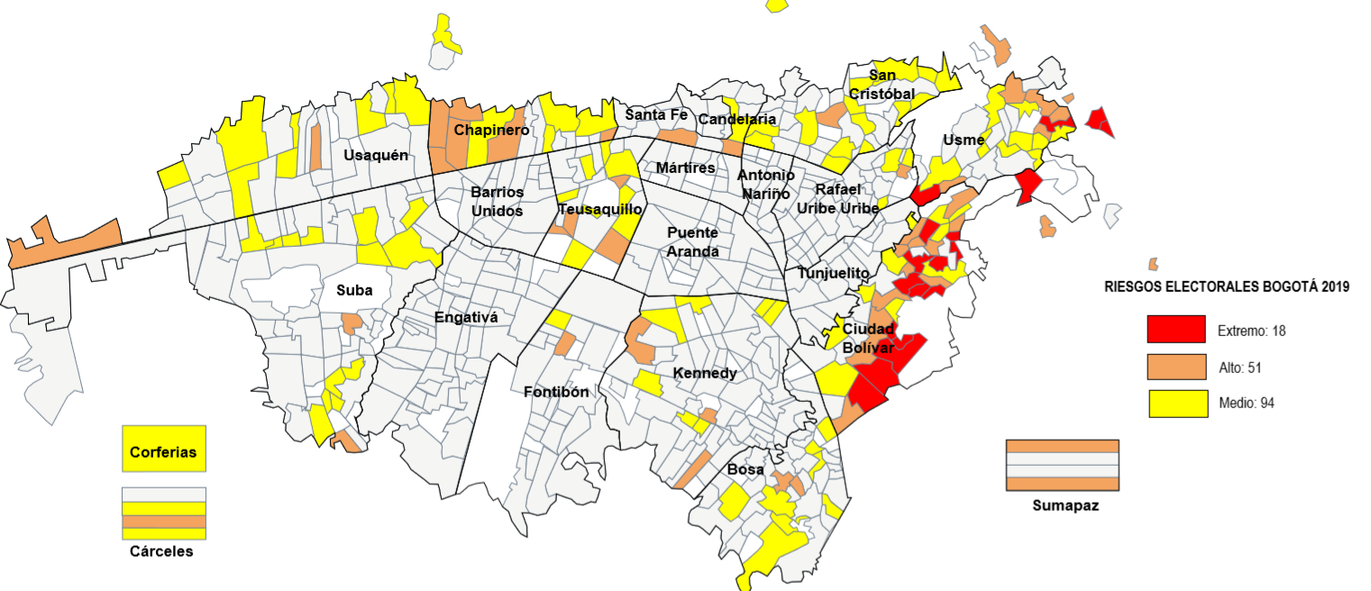Mapa de Riesgo Electoral Bogotá 2019